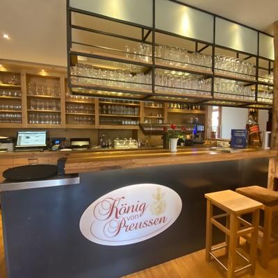 Die Bar im Restaurantbereich